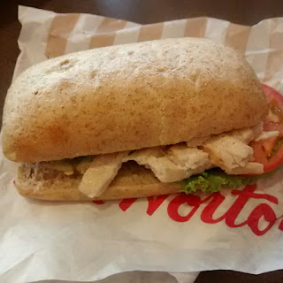 Tim Hortons Chicken Salad Sandwich on Whole Wheat Bun
