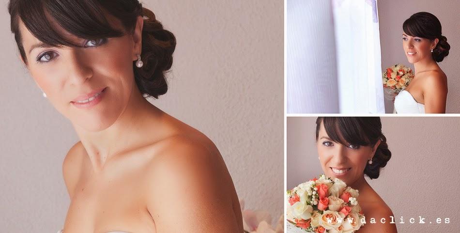 novia ramo de flores peinado de novia