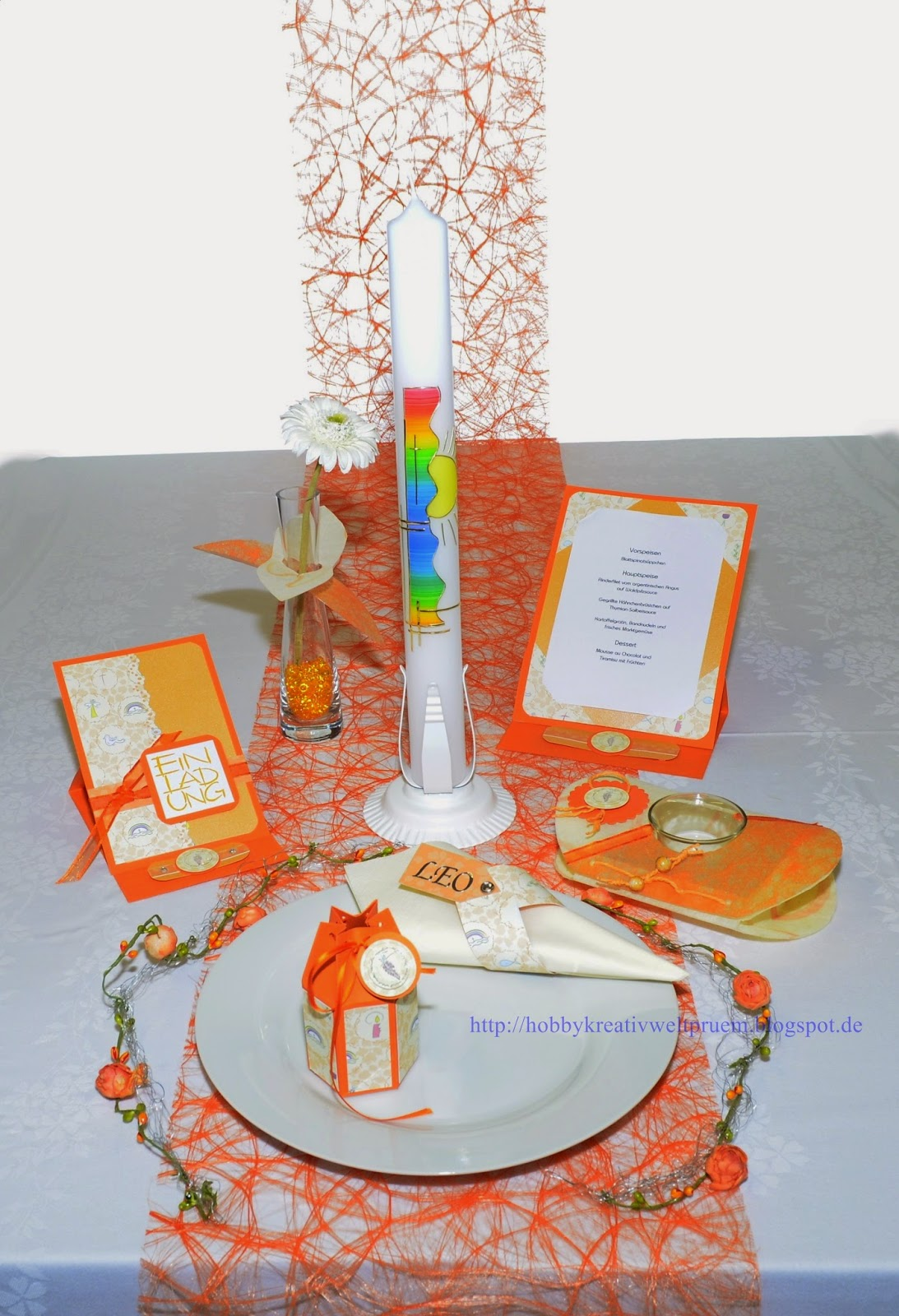 hobby kreativ welt kommunionstisch in orange. Black Bedroom Furniture Sets. Home Design Ideas