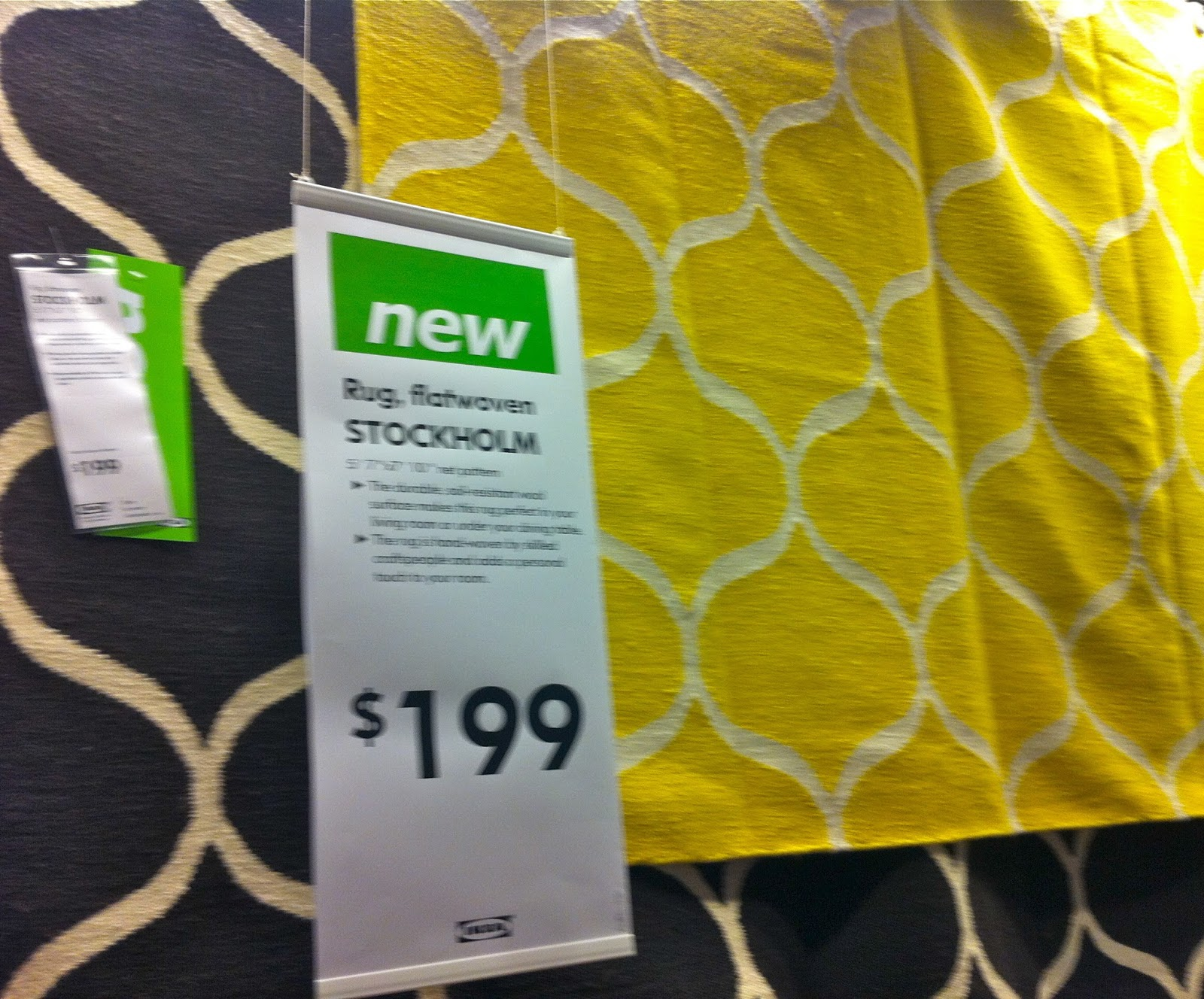 Knesting Ikea Inspiration Stockholm Rug Yellow Roselawnlutheran