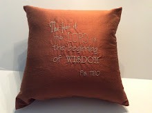 Psalm 111:10 - Rust Silk - 16""