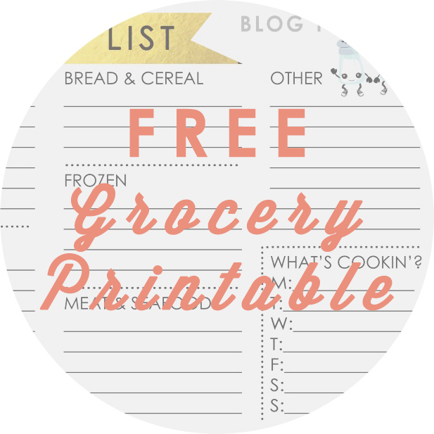 Free Grocery List Printable - a simple way to keep you on track when you go to the grocery store. http://blogtotaste.com