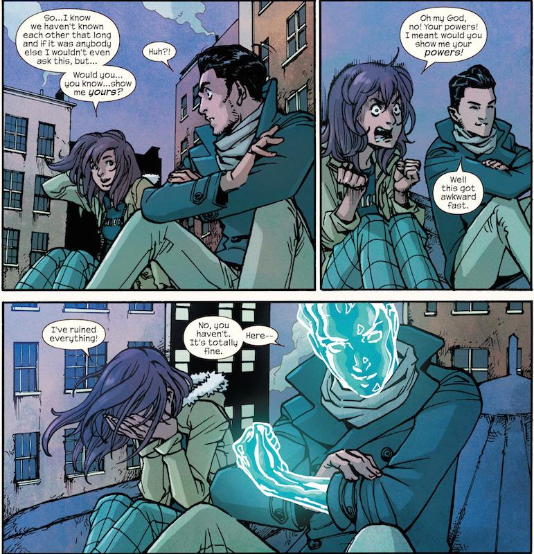 Ms. Marvel #14 by G. Willow Wilson, Takeshi Miyazawa, Jake Wyatt, Jenny Frison, Ian Herring, Joe Caramagna.