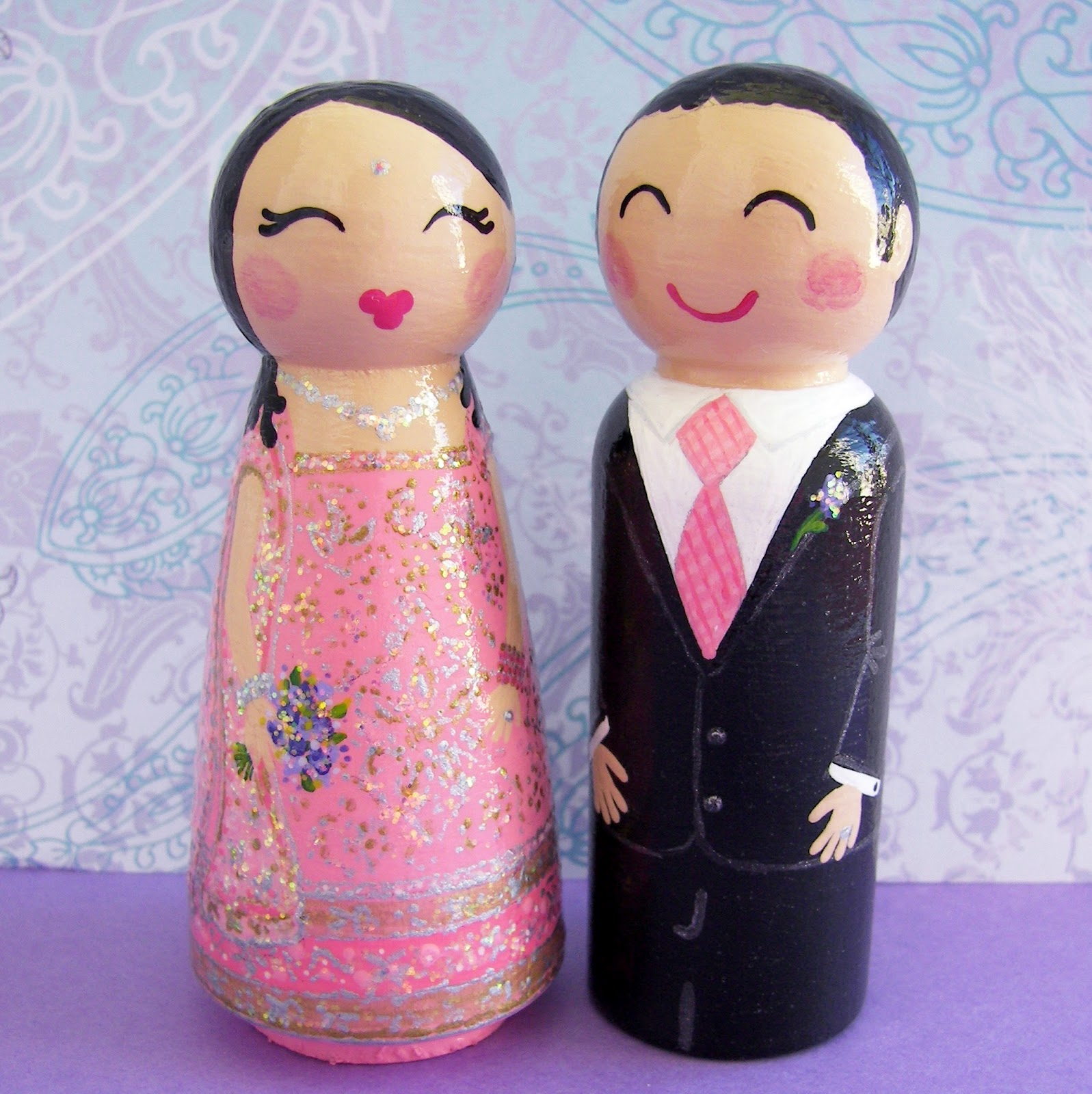 Where Lilacs Bloom: Custom Cake Toppers for beautiful Indian Bride ...