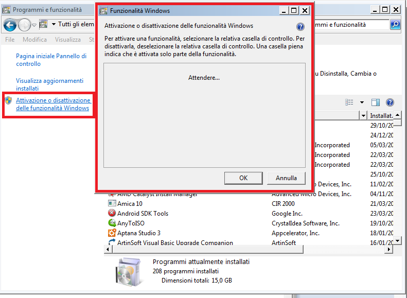 installare IIS 7 manager