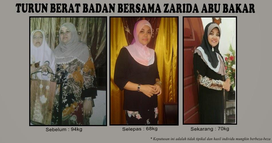 TURUN BERAT BADAN BERSAMA Zarida Abu Bakar
