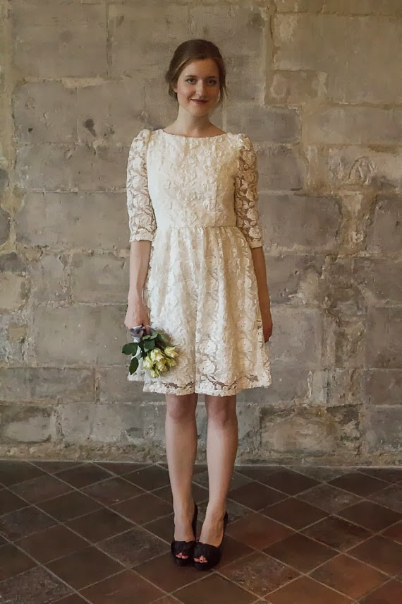 Alesandra Paris Affordable Short Lace Wedding Dress - Etsy