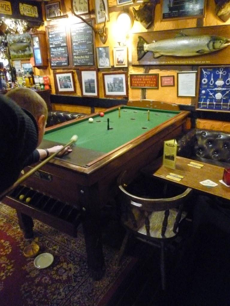 Bar Billiards at The Cock Inn, Luddesdowne