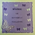 I was a Butterfly Challenge Winner