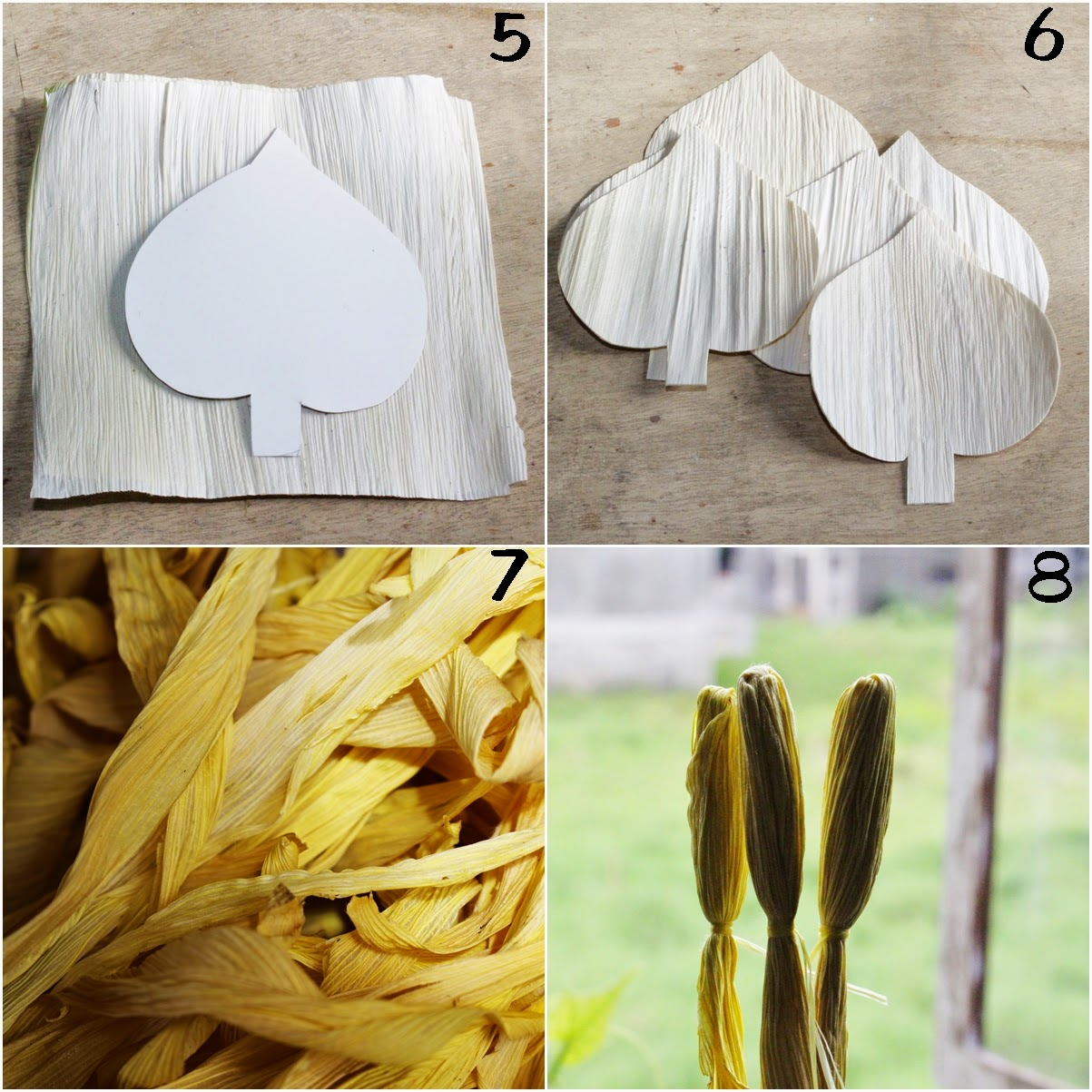 DIY: How To Make Calla Lily Flowers Using Dried Corn Husks ...