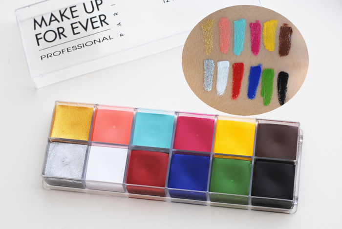 makeup forever 12 flash color case, grease paint makeup, beauty review, swatch