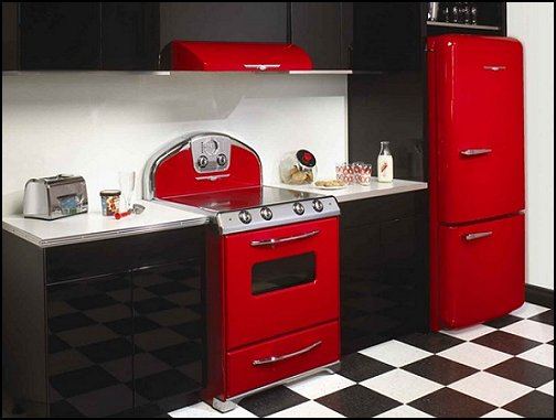 Decorating theme bedrooms maries manor 50s bedroom for Modern 50s style kitchen
