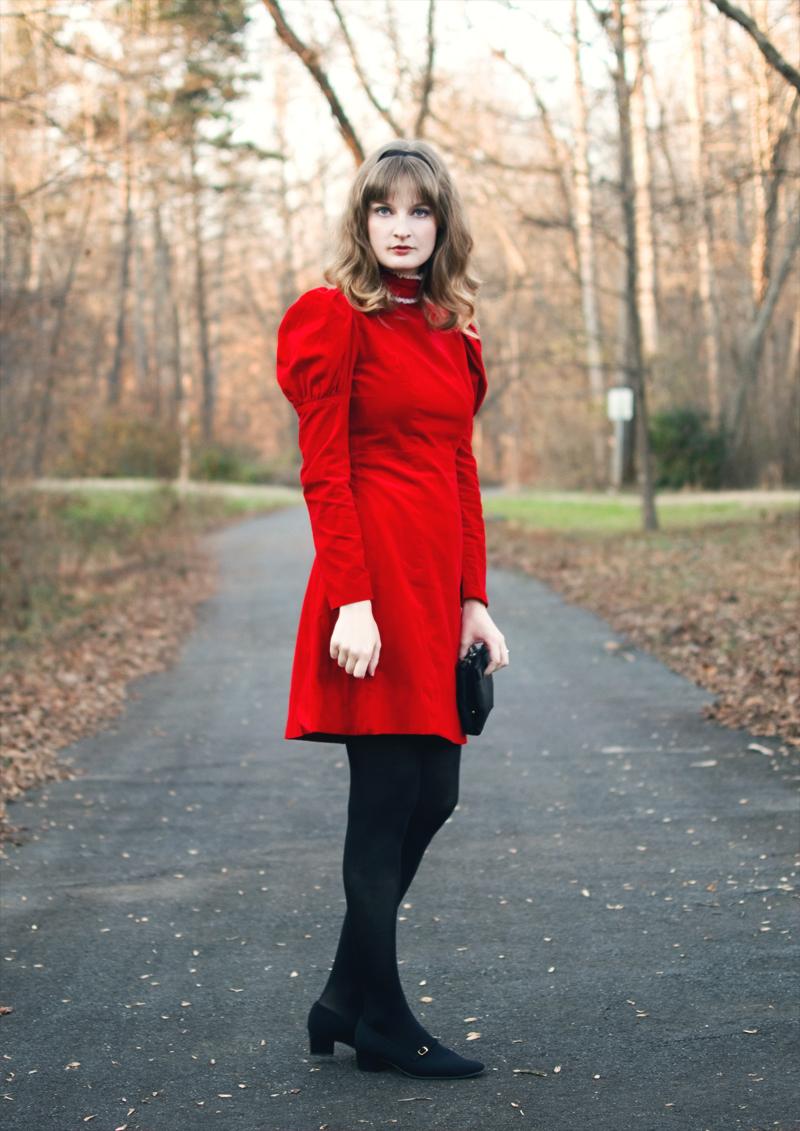 The Flying Clubhouse: Juliet | 60s velvet dress