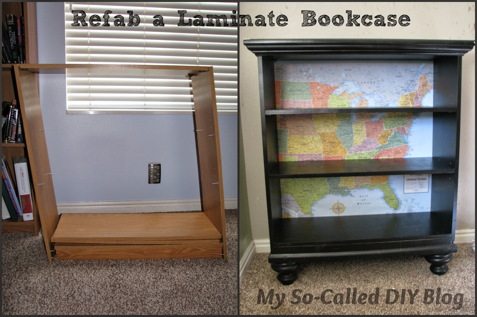 My So Called Diy Blog Refab Old Laminate Book Shelf