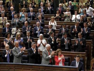 El Grupo Parlamentario Popular aplaude al presidente