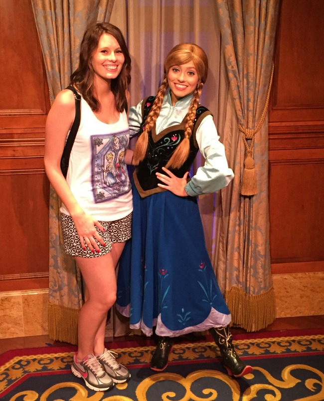 Disney World Recap - meeting Anna - Magic Kingdom