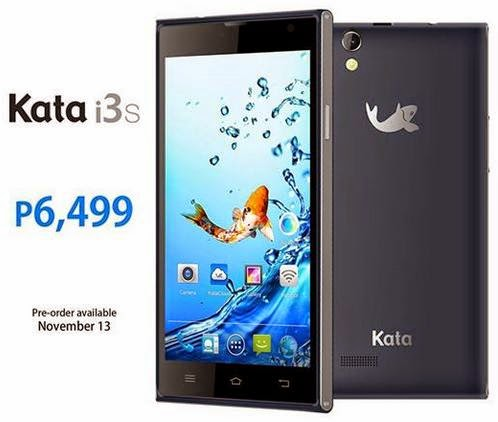 Kata i3s, 5-inch HD Quad Core, Available this November 13 for Php6,499