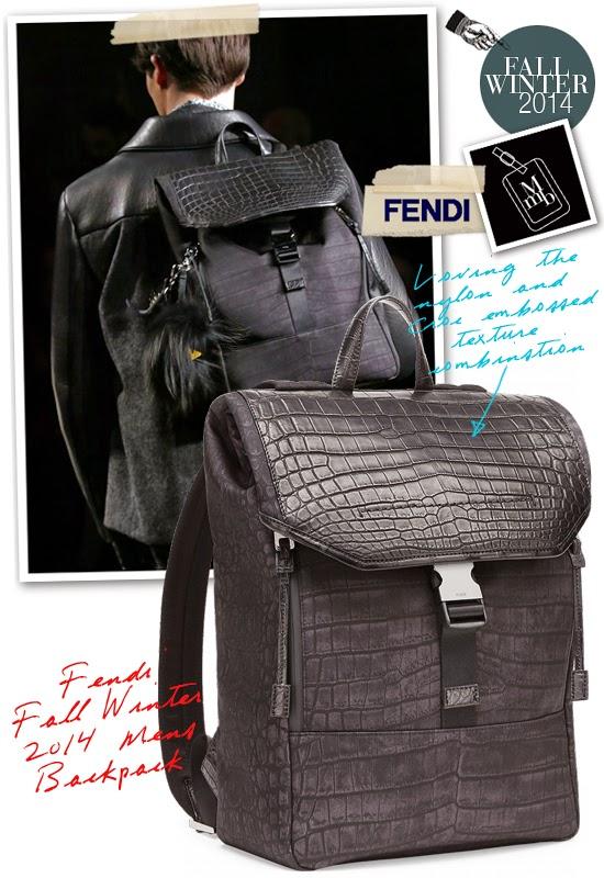 myMANybags  Fendi Fall Winter 2014 Mens Backpack 112df34cfc5b6