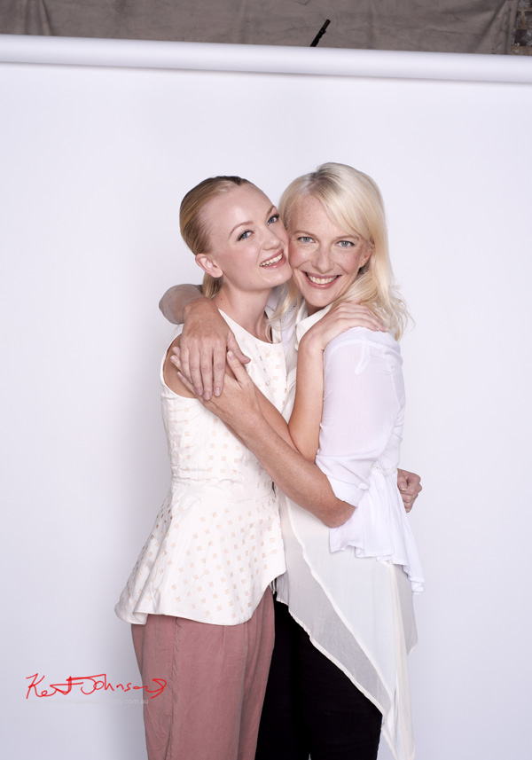 Out-take Mother and Daughter beauty portrait for L'OREAL Mothers Day promotion.