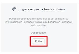 activar sesion anonima facebook