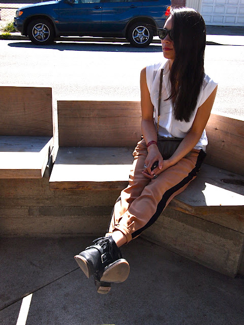 All Saints Bonny Cuban, Zara track pants