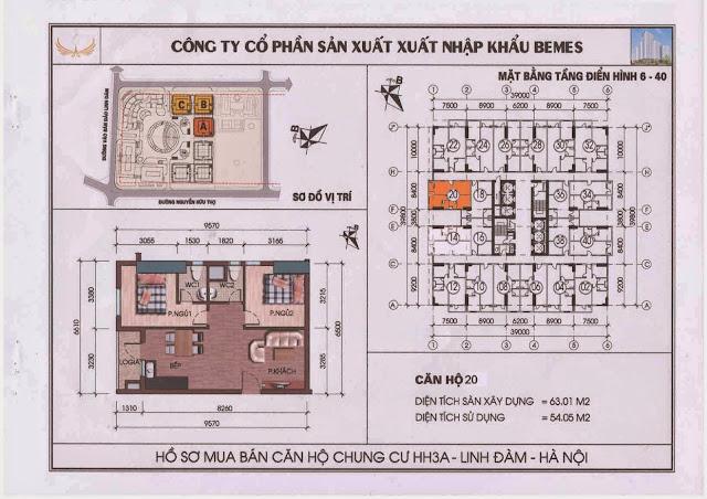 Căn hộ 20 - Chung Cư HH3A Linh Đàm