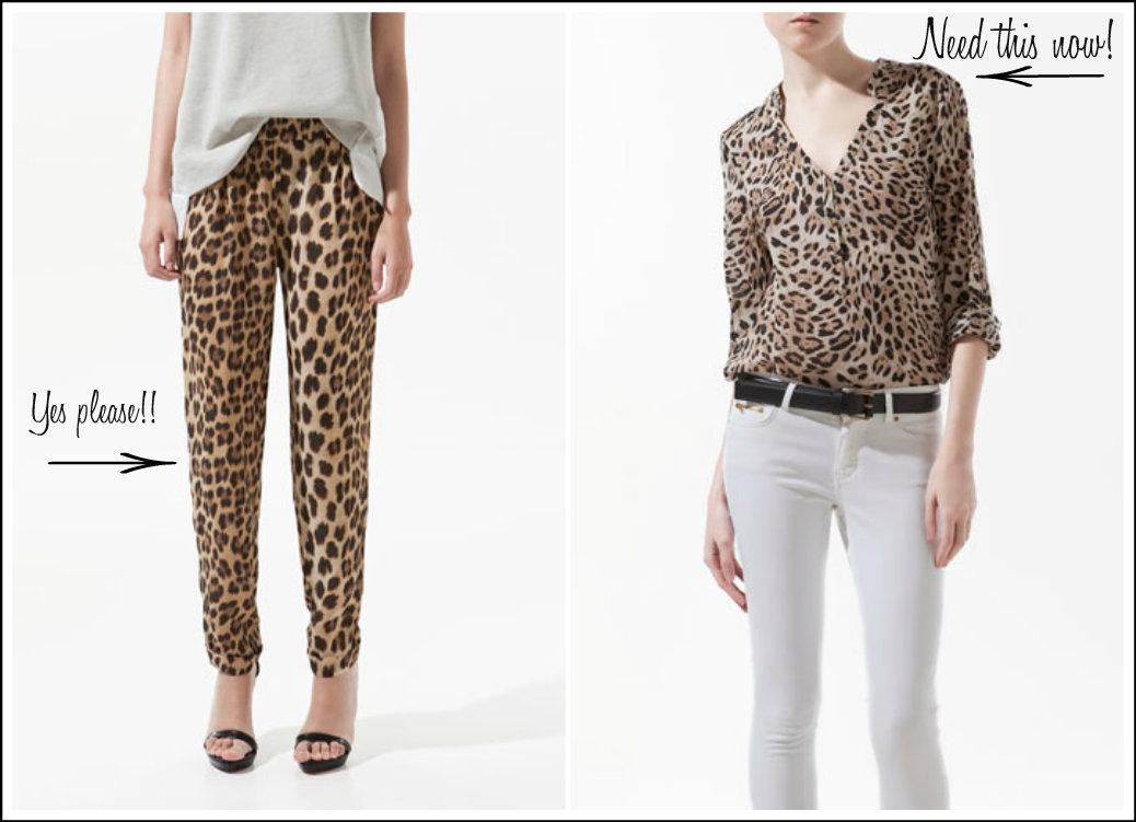 Zara Leopard Blouse 92
