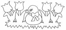 Desenhos Para Colori Pintinhos e Patos desenhar