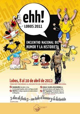 Afiche de Encuentro Nacional del Humor y la Historieta de Lobos