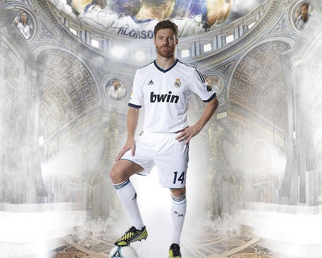 New Xabi Alonso wallpaper HD Real madrid 2013 - 2014