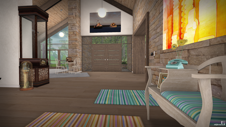 Review of a Second Life Virtual Living Space by Maven Homes.