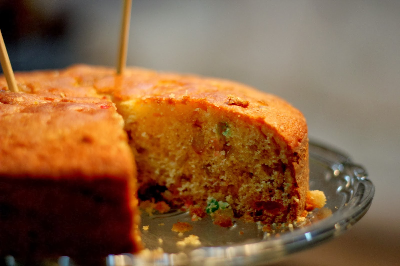 how to make fruit cake in hindi