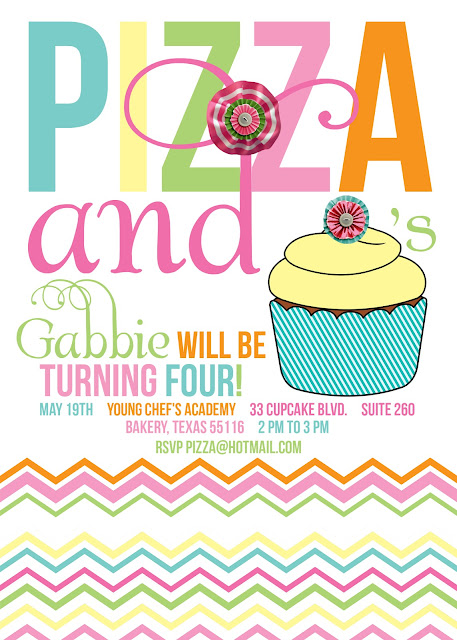 Party Box Design Pizza and Cupcake Party – Pizza Party Invites