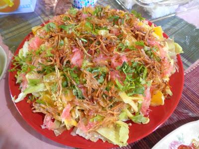 mango, pomelo and orange salad