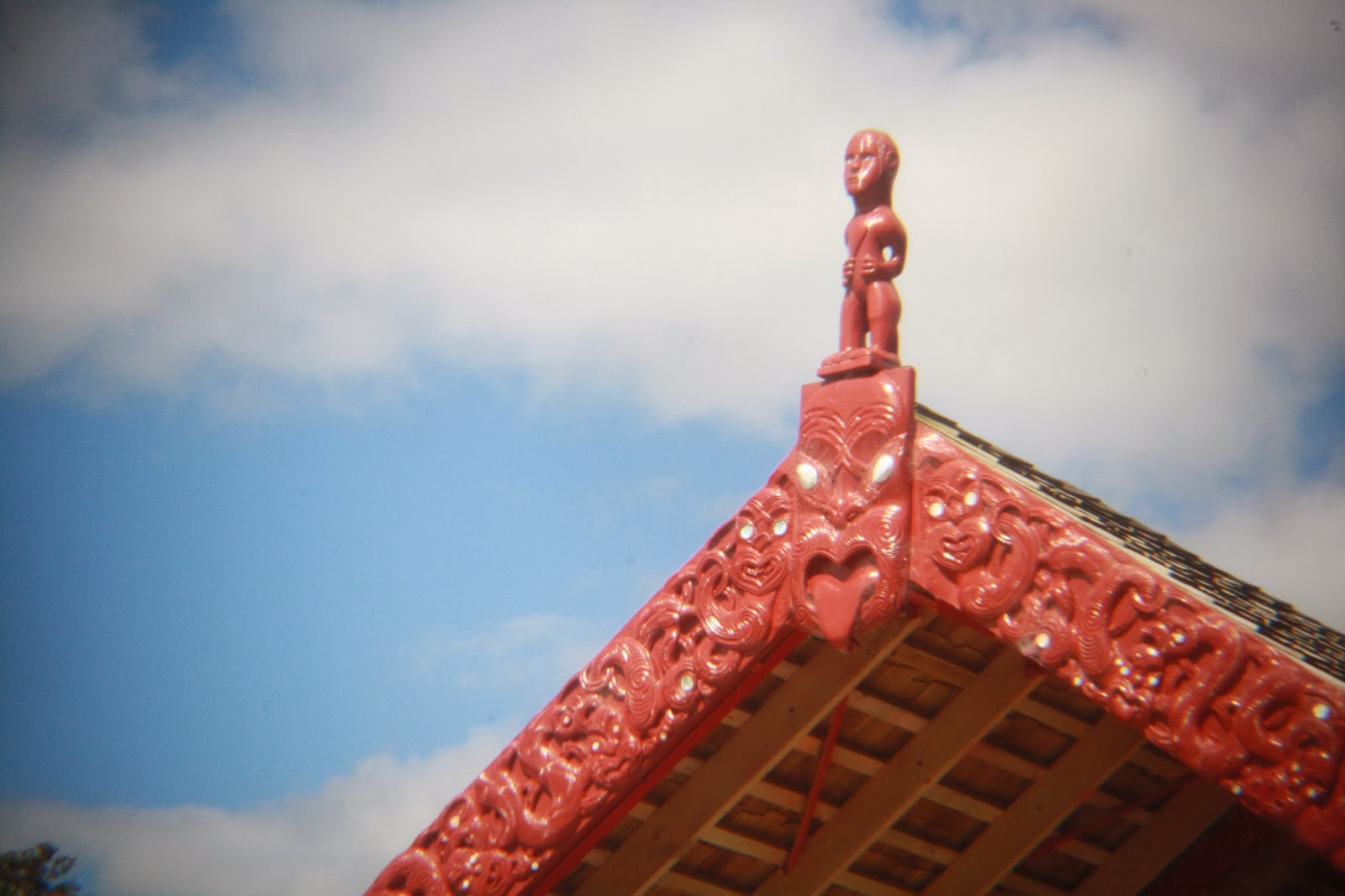 Top of the waka where at Waitangi.