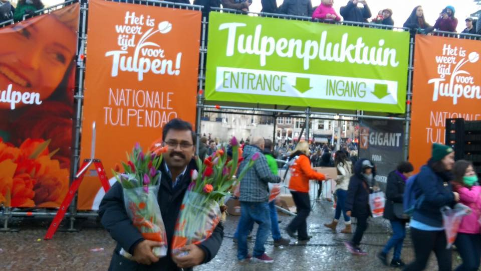 Man with the Tulips in his hand