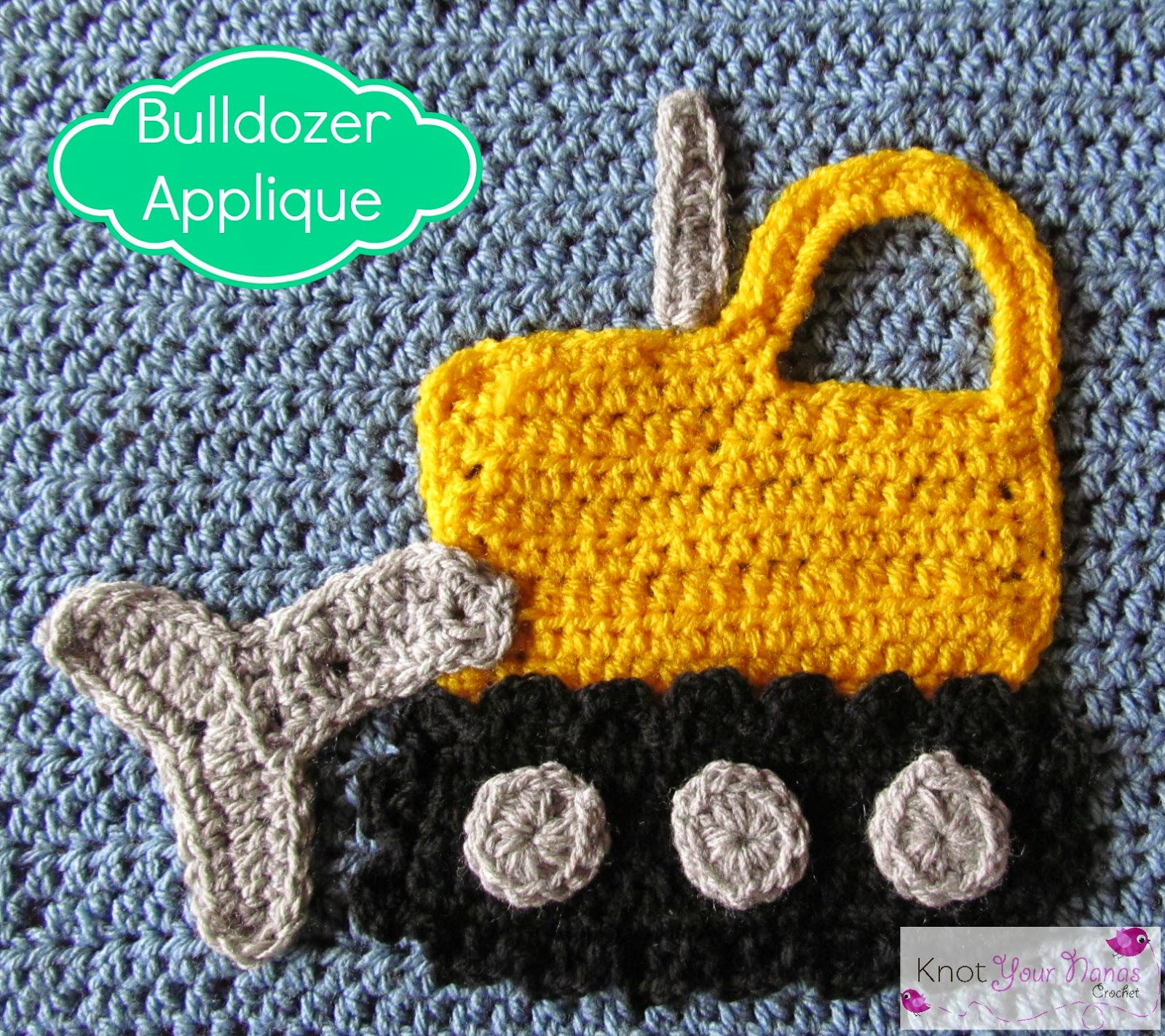 Crochet-Bulldozer-Applique