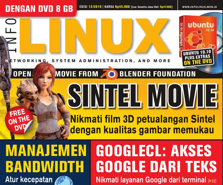 Cover Majalah InfoLINUX edisi Desember 2010
