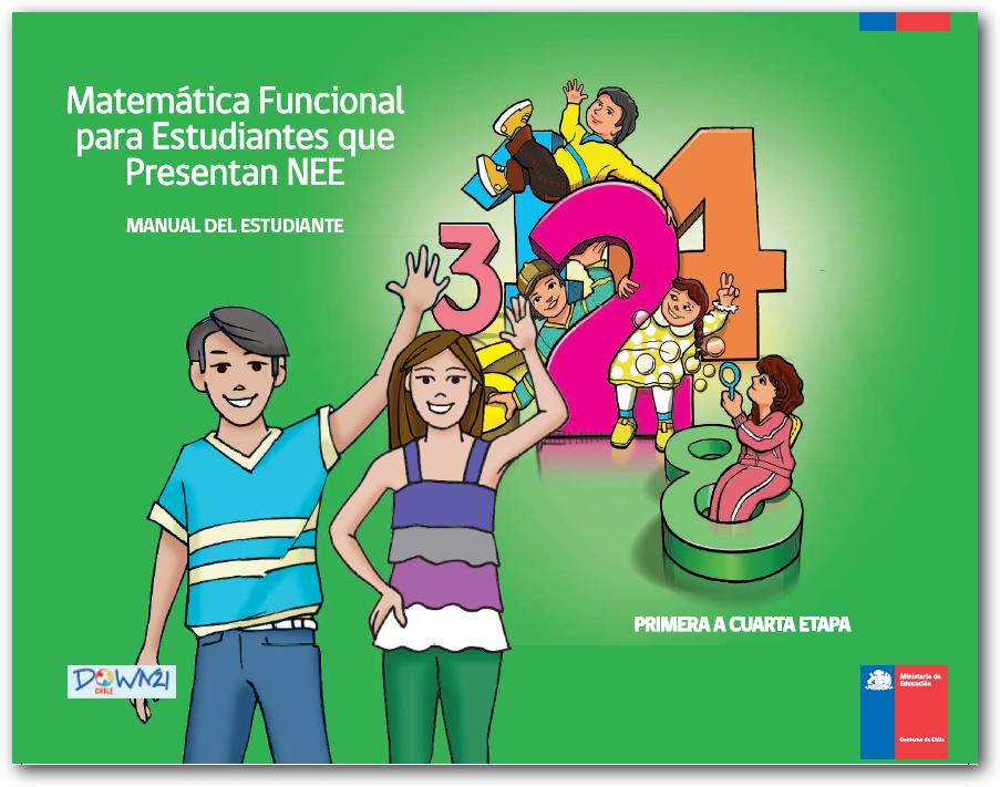 Manual del estudiante de 1 a 4 - Matemática Funcional para Estudiantes que presentan NEE