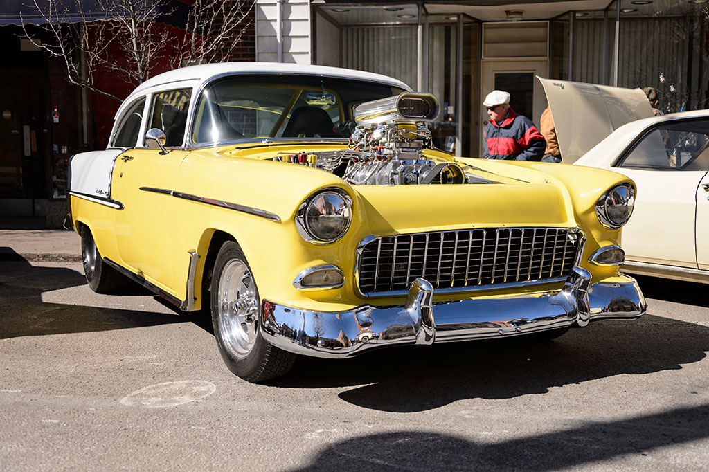1955 Chevy Pro Street at the PA Maple Festival car show
