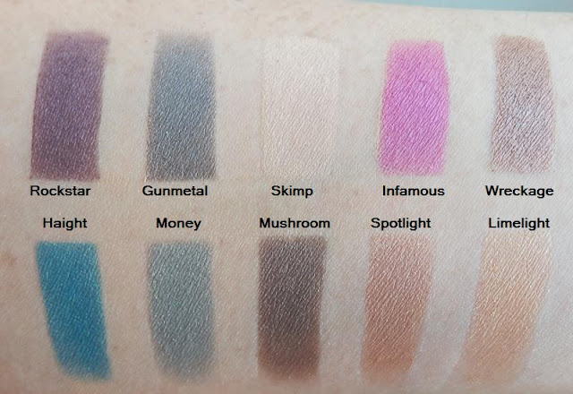 Urban Decay Mariposa Palette swatches indirect sunlight