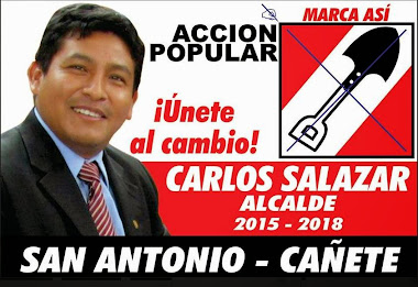 CANDIDATO AL DISTRITO DE SAN ANTONIO