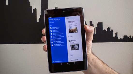 Microsoft Office Bisa Diakses Melalui Tablet Android