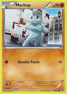 Machop Furious Fists Pokemon Card
