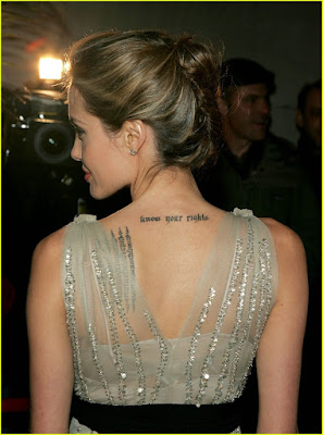 Angelina Jolie Tattoo