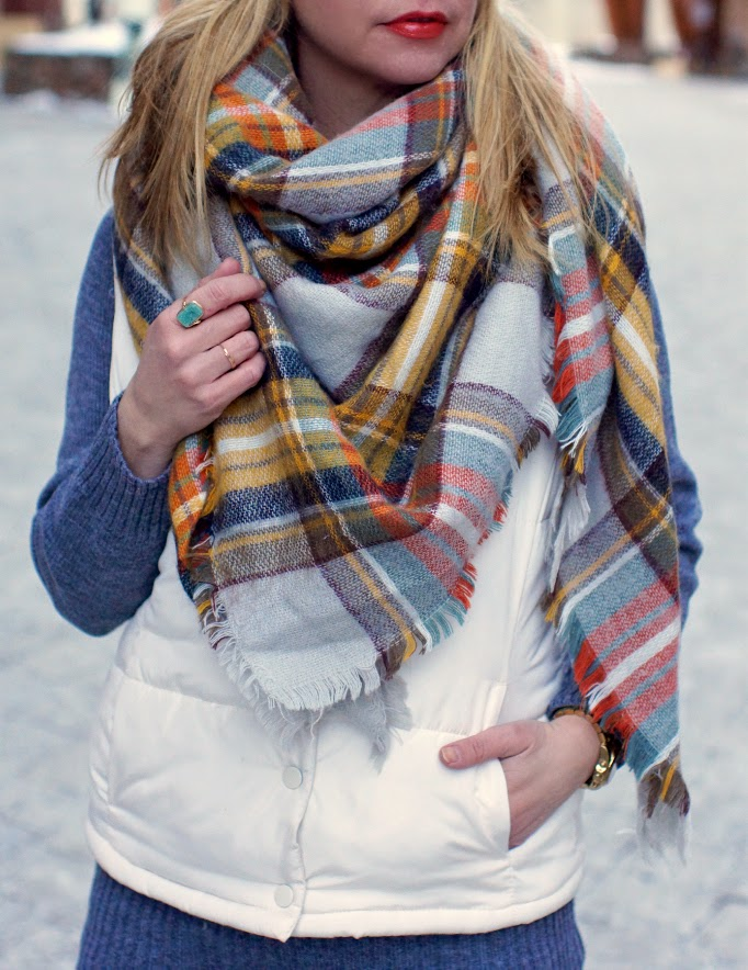 Oversized plaid Zara Blanket Scarf