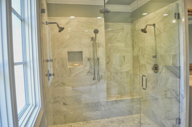 gray wall color in master bedroom master bathroom master bathtub title=
