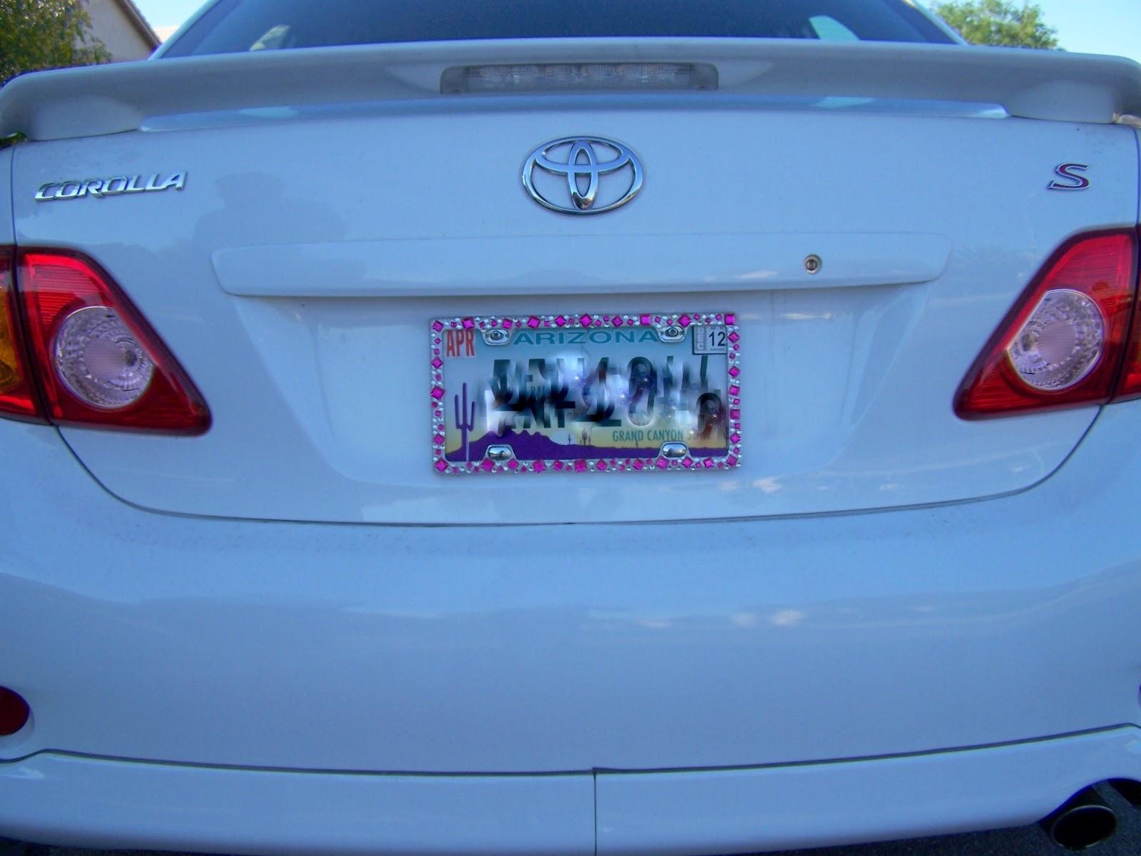 diy blinged out license plate - Disney License Plate Frame