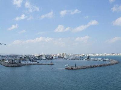 Puerto La Goulette en Túnez