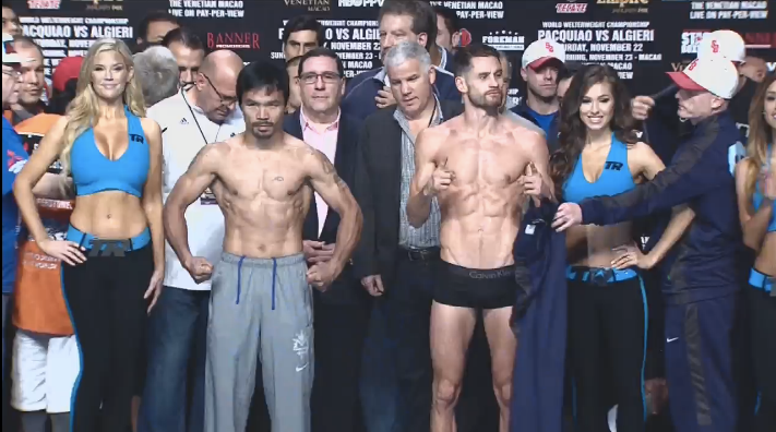 Photos: Manny Pacquaio and Chris Algieri weigh in